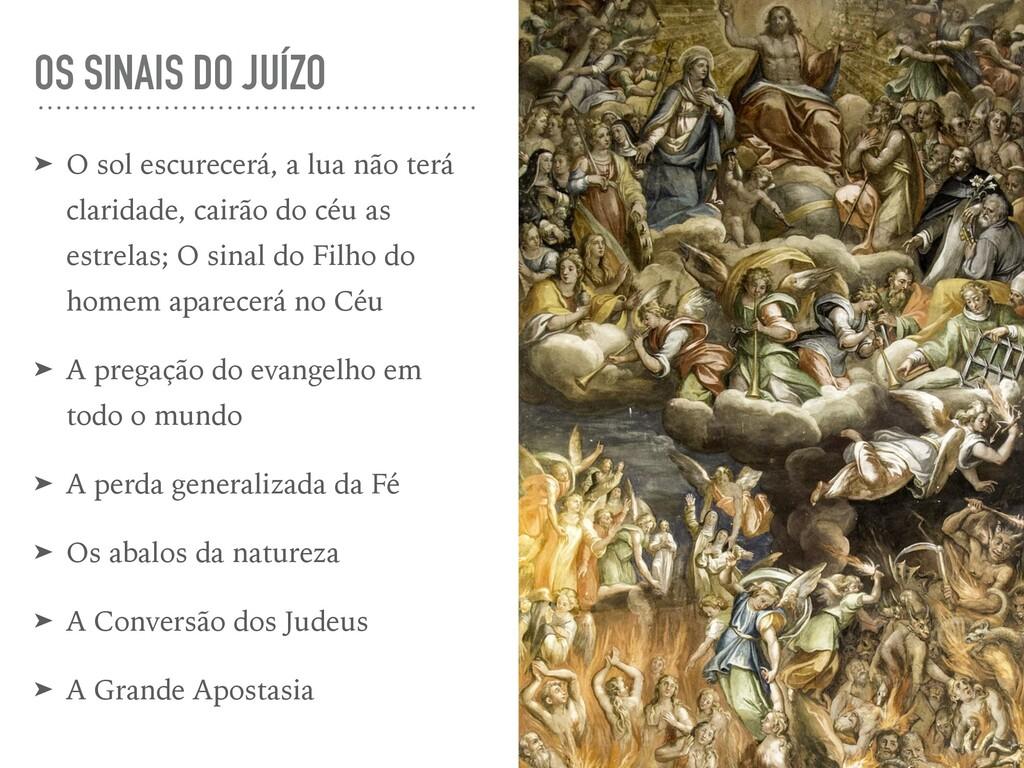 OS SINAIS DO JUÍZO ➤ O sol escurecerá, a lua nã...