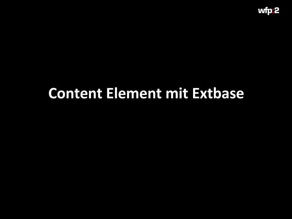Content Element mit Extbase