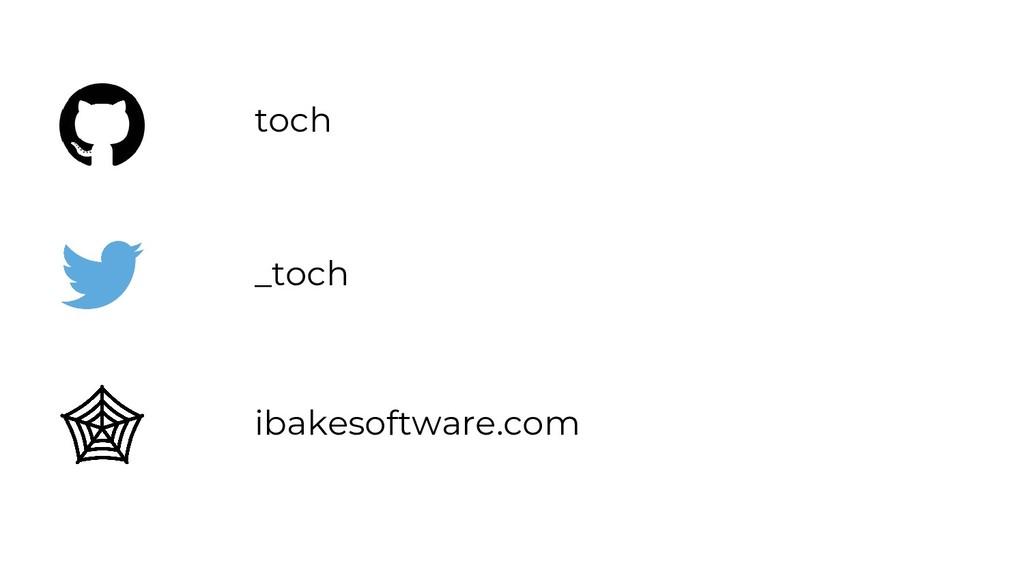 ibakesoftware.com _toch toch