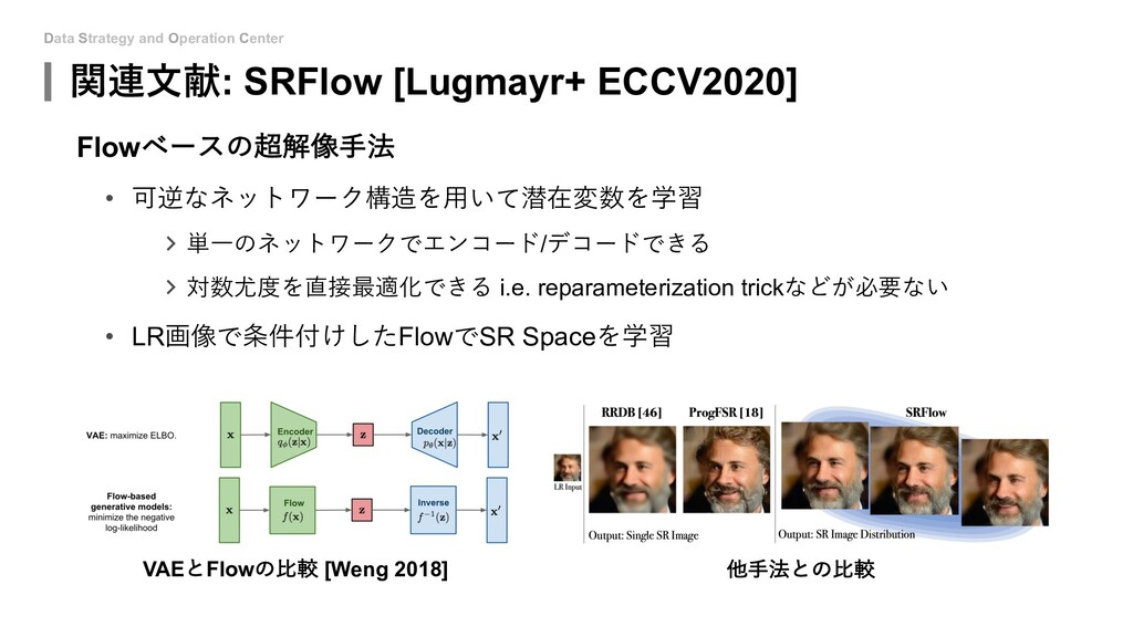 Data Strategy and Operation Center 関連⽂献: SRFlow...