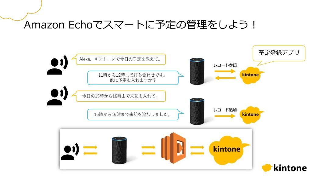 Amazon Echoでスマートに予定の管理をしよう! 予定登録アプリ レコード参照 レコード...