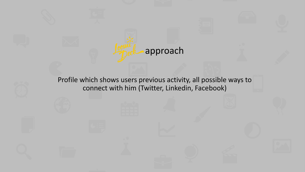 approach Profile which shows users previous act...