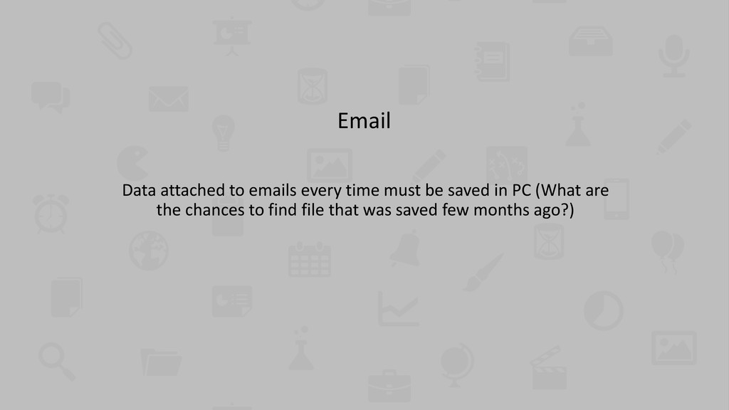 Email Data attached to emails every time must b...