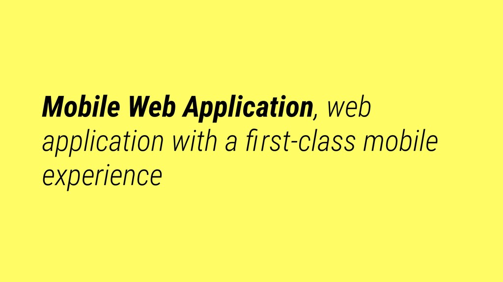 Mobile Web Application, web application with a ...