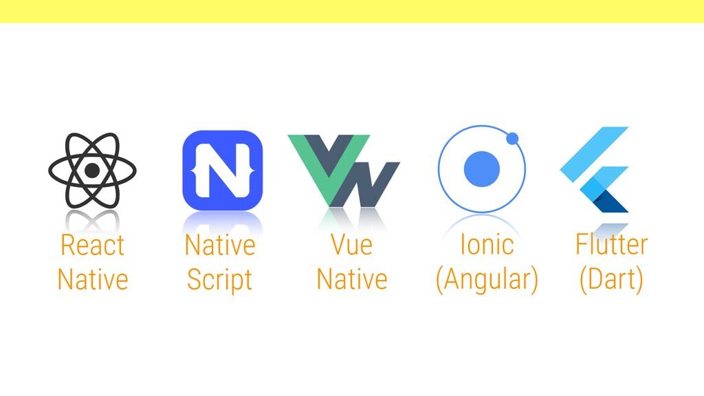 React Native Native Script Vue Native Ionic (An...
