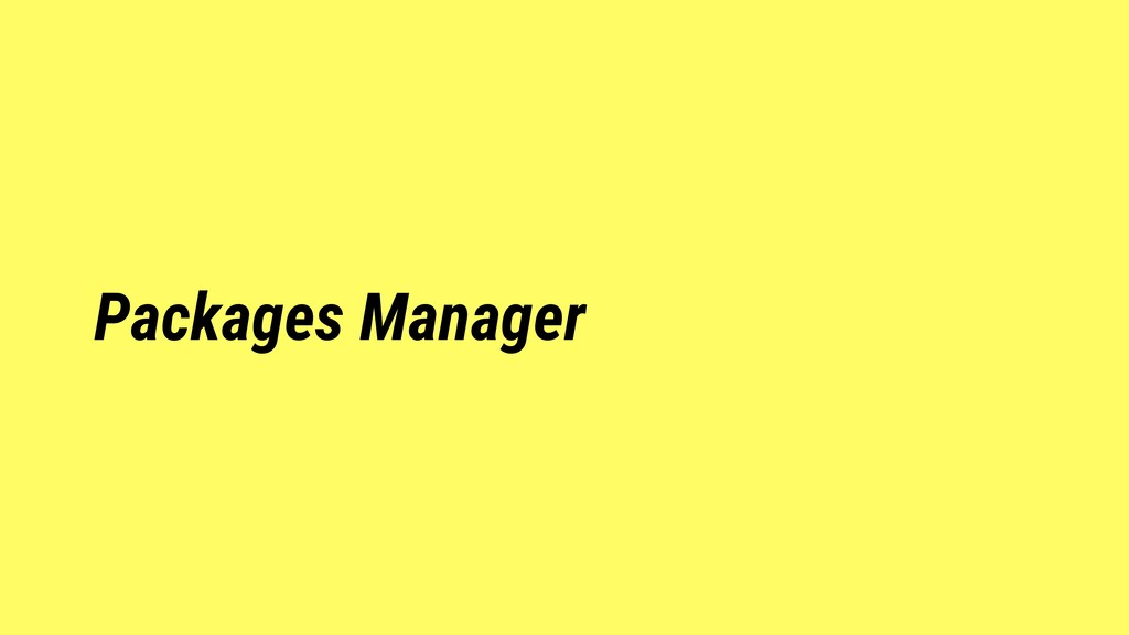 Packages Manager