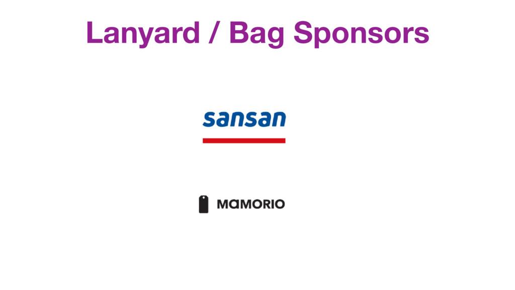 Lanyard / Bag Sponsors