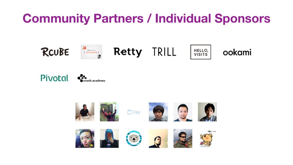 Community Partners / Individual Sponsors