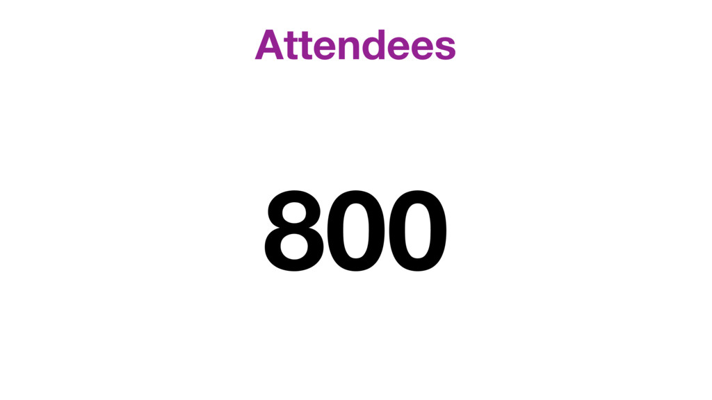 Attendees 800