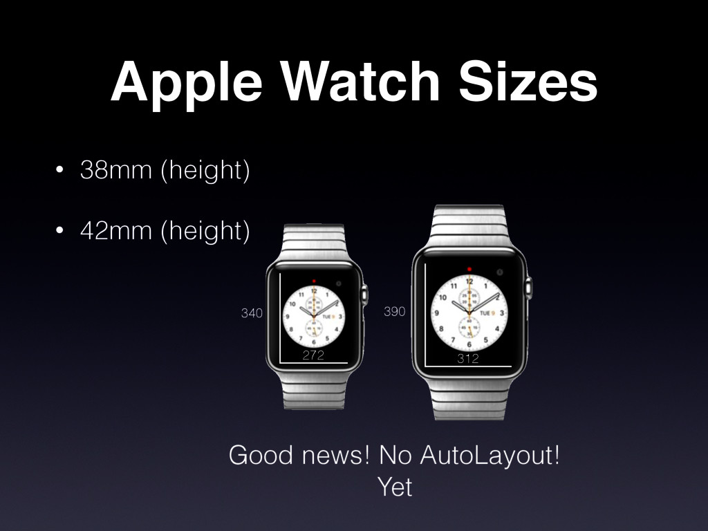 Apple Watch Sizes • 38mm (height) • 42mm (heigh...