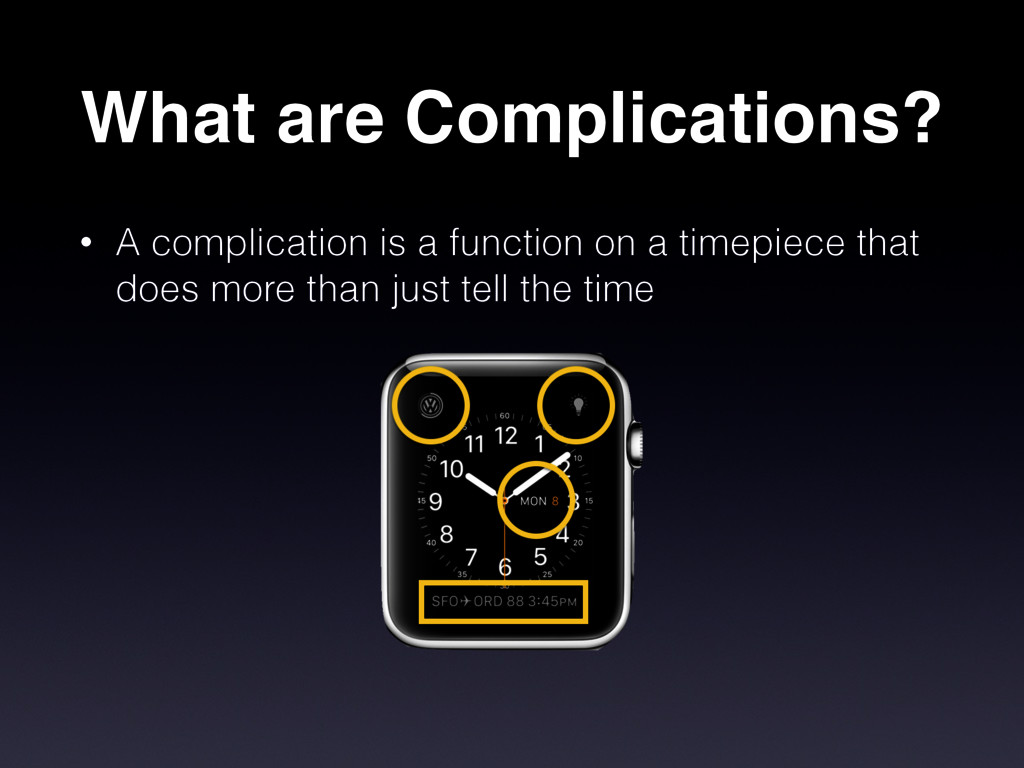 What are Complications? • A complication is a f...