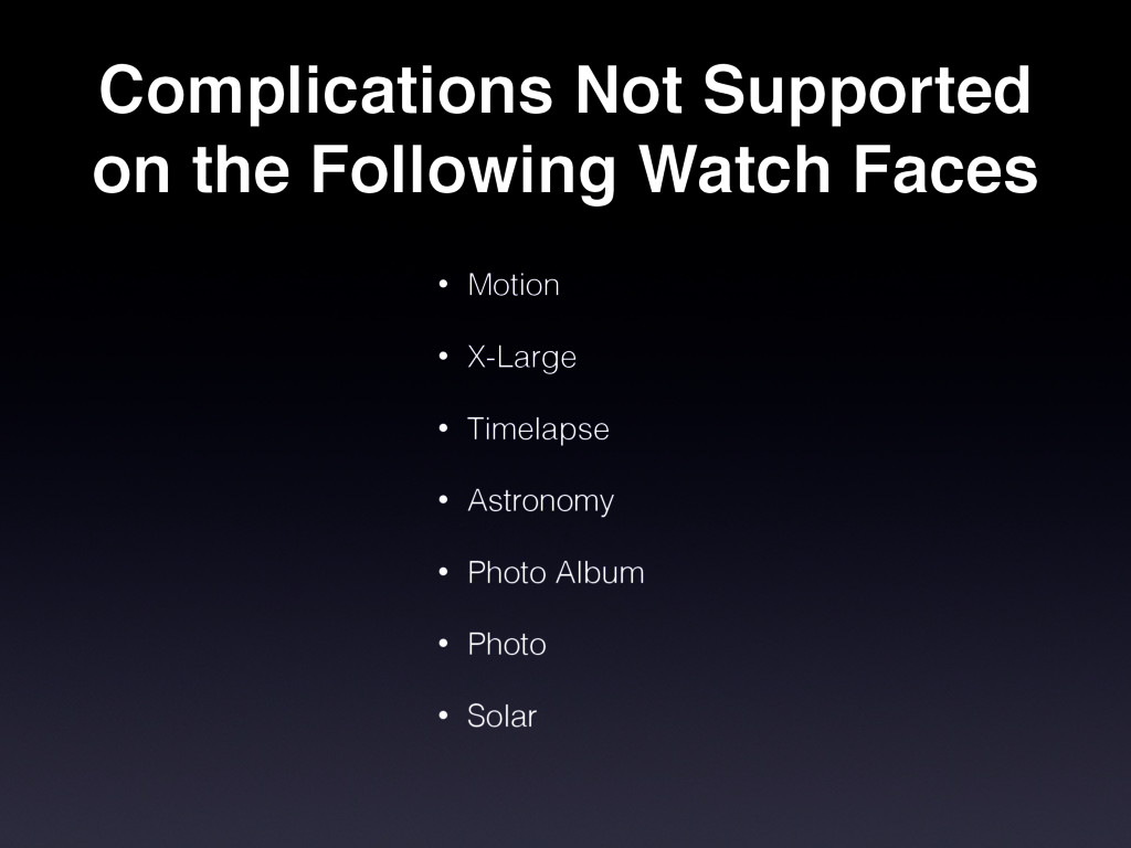 Complications Not Supported on the Following Wa...