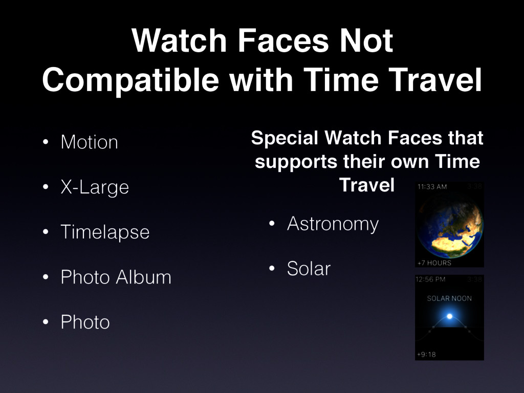 Watch Faces Not Compatible with Time Travel • M...