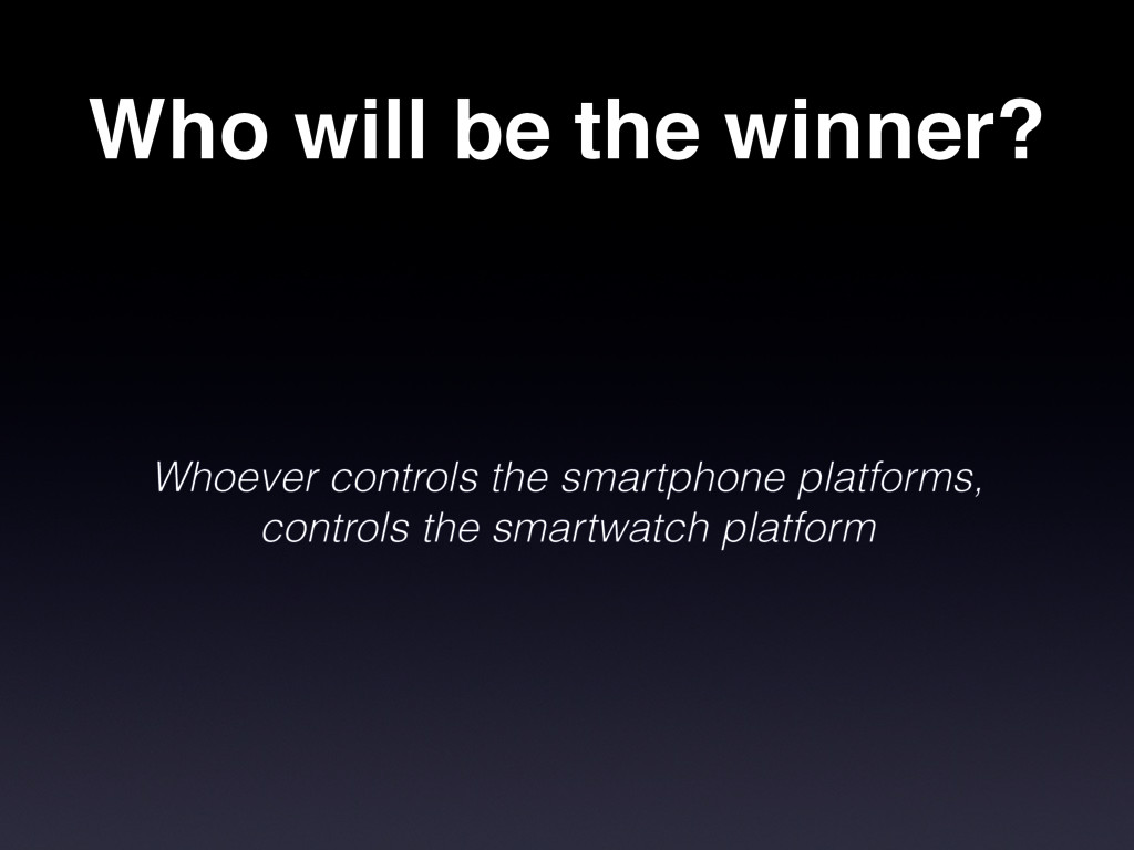 Who will be the winner? Whoever controls the sm...