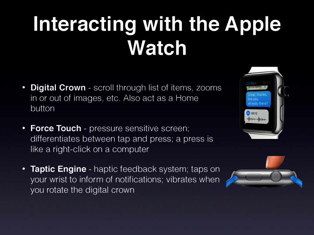 Interacting with the Apple Watch • Digital Crow...