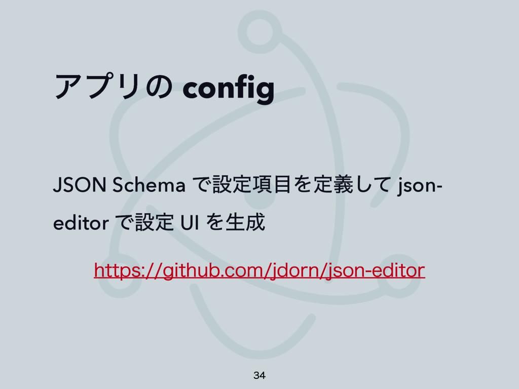 ΞϓϦͷ config JSON Schema Ͱઃఆ߲Λఆٛͯ͠ json- editor ...