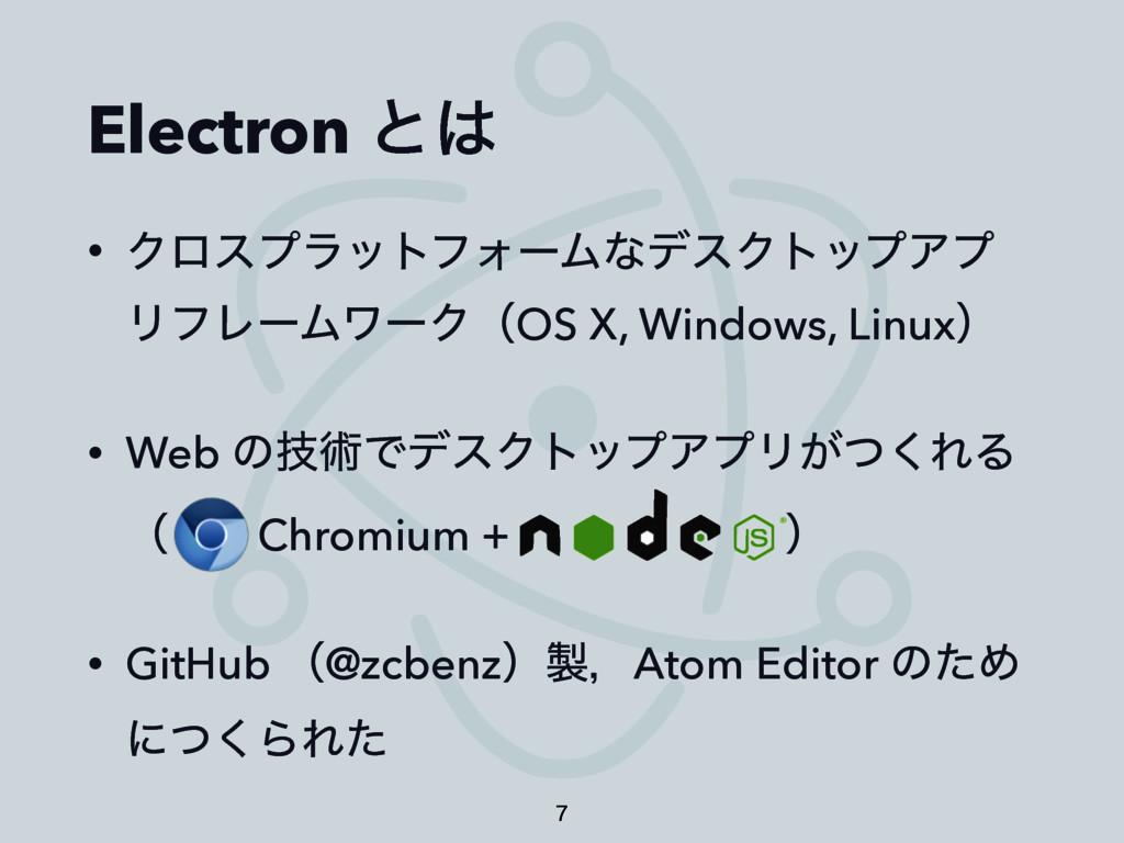 Electron ͱ • ΫϩεϓϥοτϑΥʔϜͳσεΫτοϓΞϓ ϦϑϨʔϜϫʔΫʢOS ...