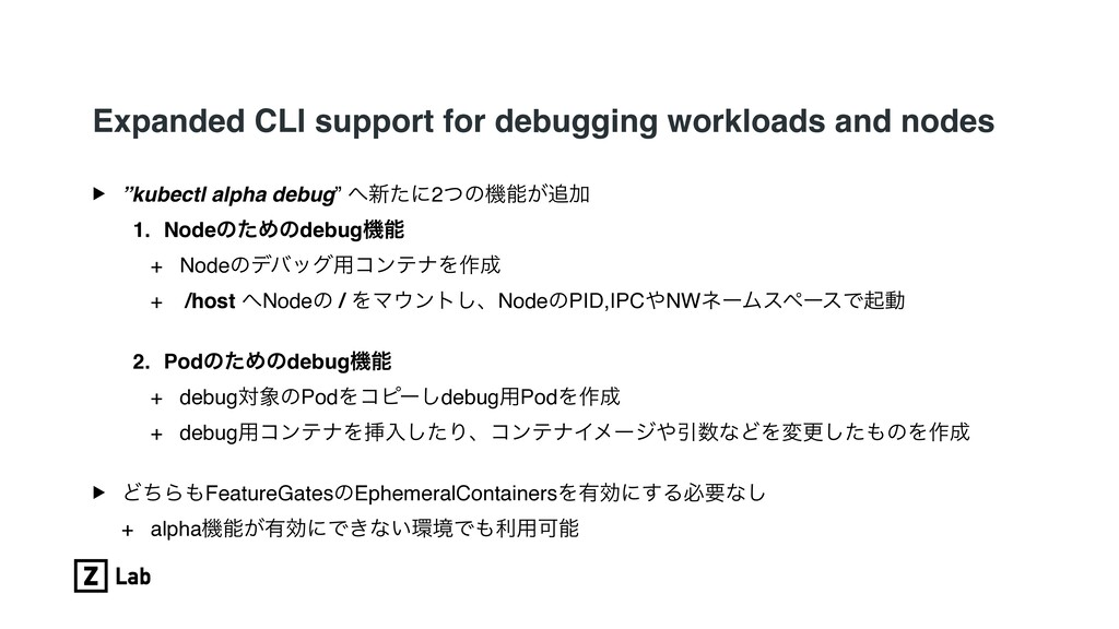 Expanded CLI support for debugging workloads an...