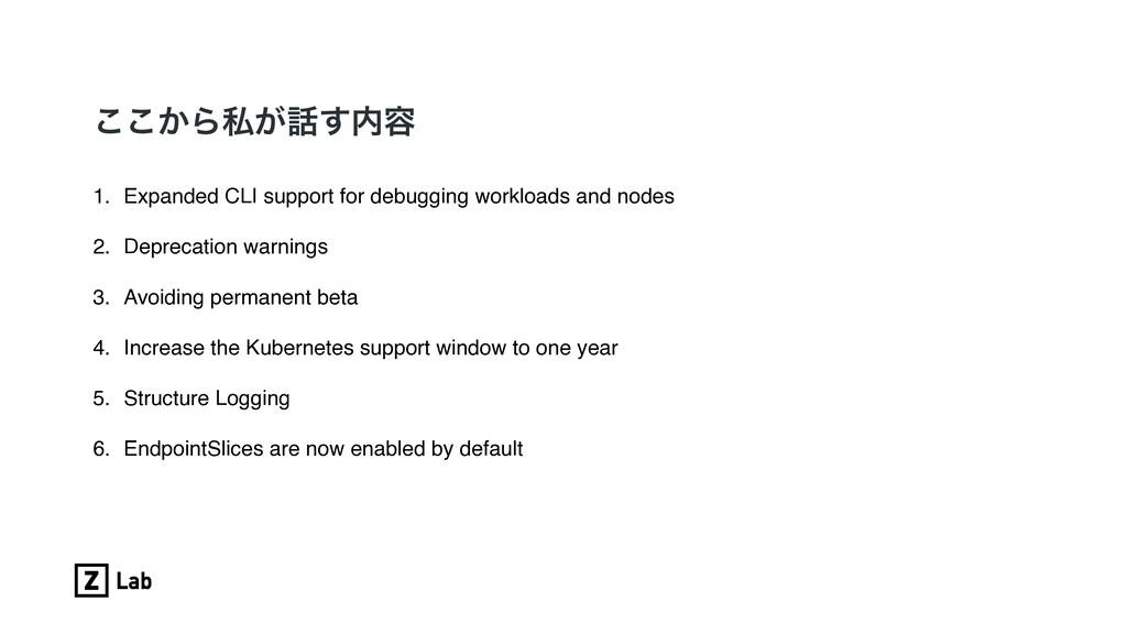 ͔͜͜Βࢲ͕͢༰ 1. Expanded CLI support for debuggin...