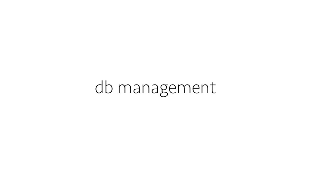 db management