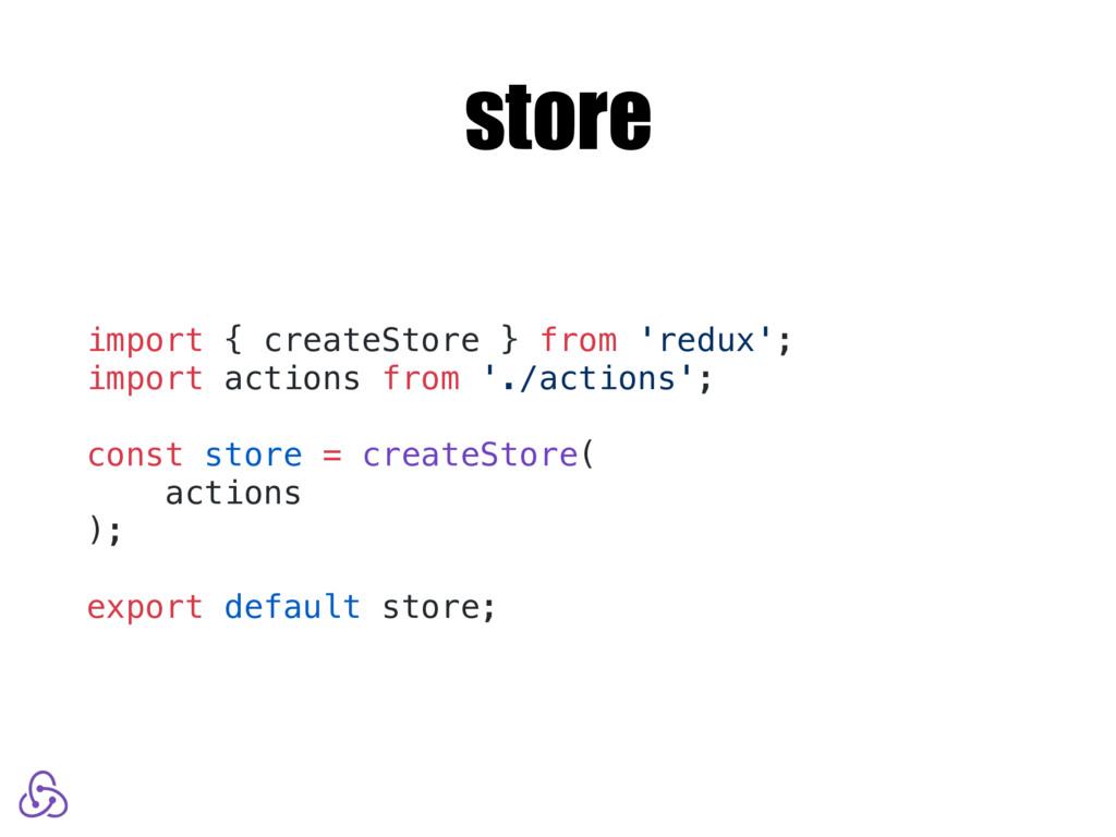store import { createStore } from 'redux'; impo...