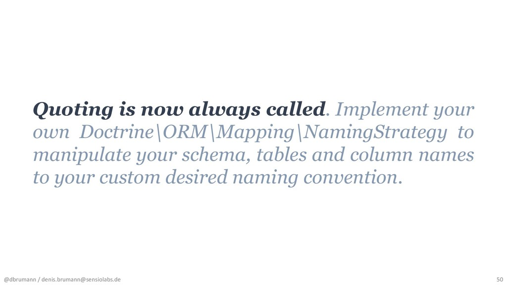 Quoting is now always called. Implement your ow...