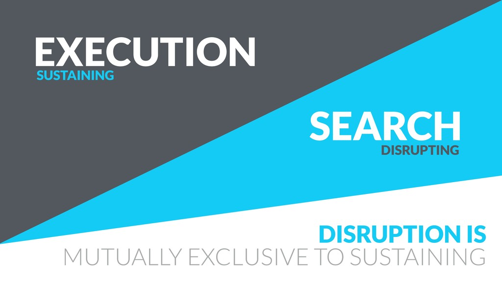 SEARCH EXECUTION DISRUPTION IS MUTUALLY EXCLUSI...