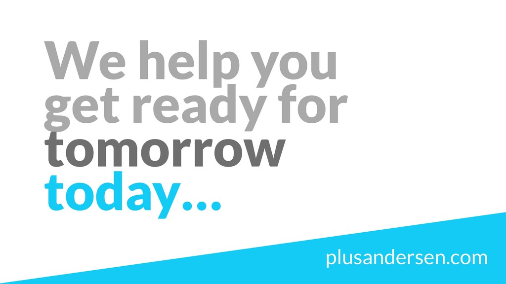 We help you