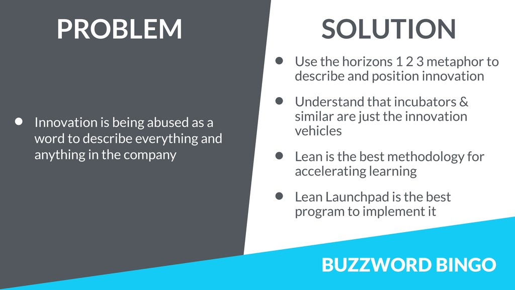 BUZZWORD BINGO • Innovation is being abused as ...