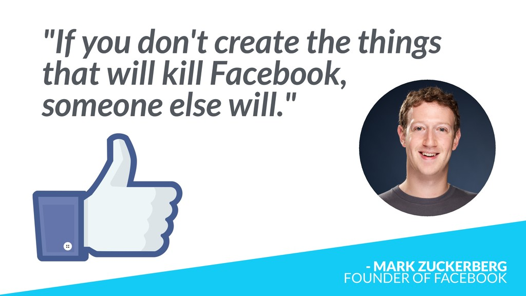 """If you don't create the things that will kill ..."