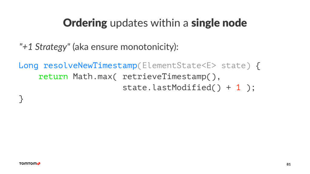 """Ordering updates within a single node """"+1 Strat..."""