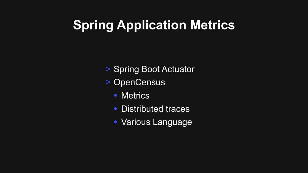 Spring Application Metrics > Spring Boot Actuat...