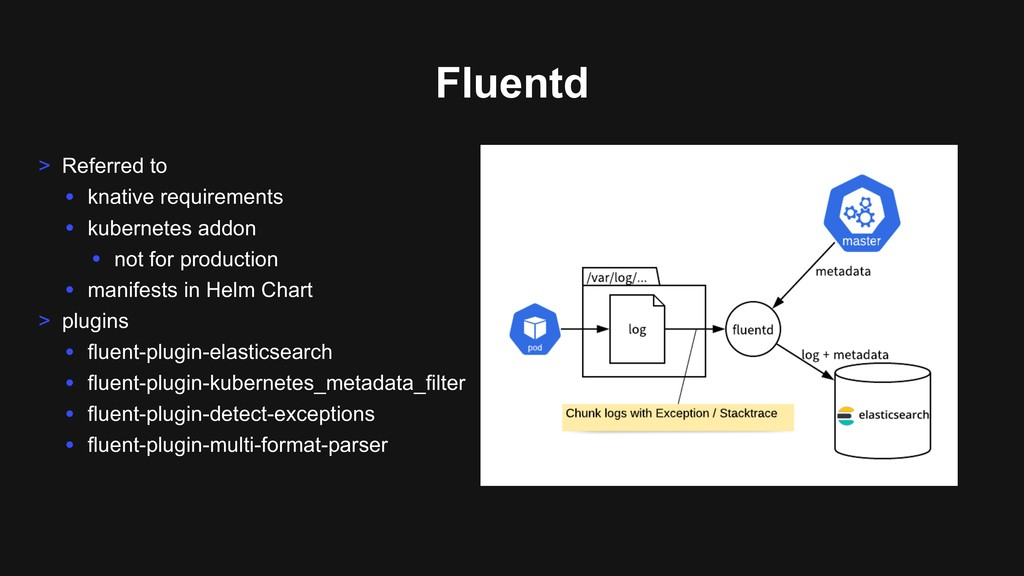 Fluentd > Referred to • knative requirements • ...