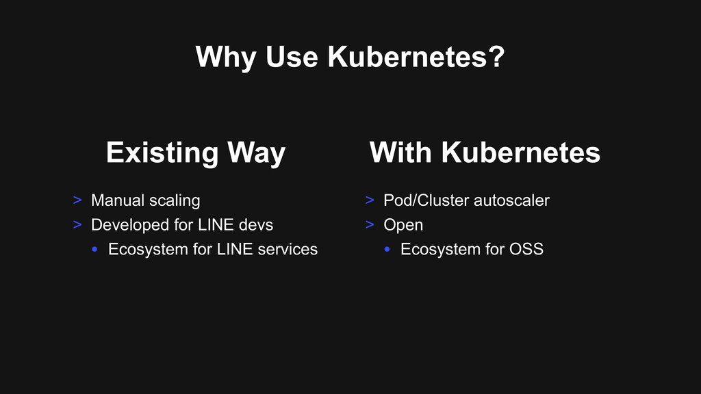 Why Use Kubernetes? With Kubernetes > Pod/Clust...