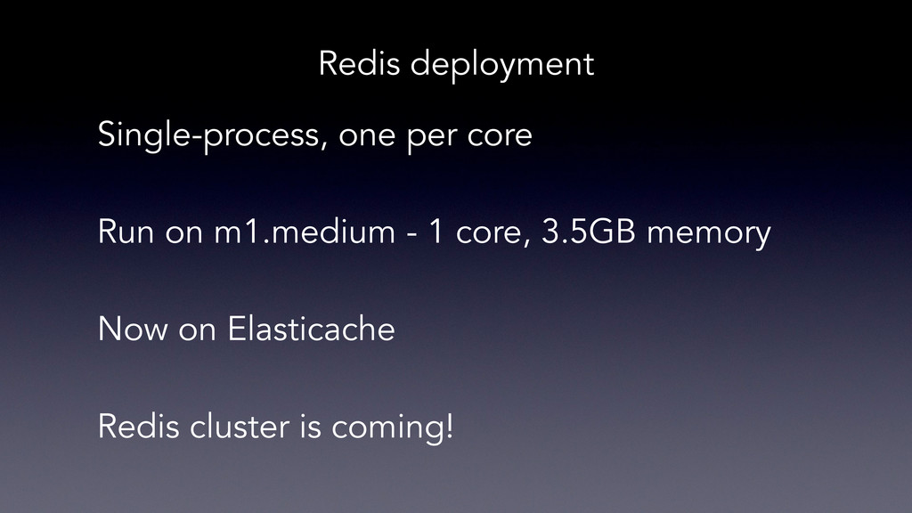 Single-process, one per core Run on m1.medium -...