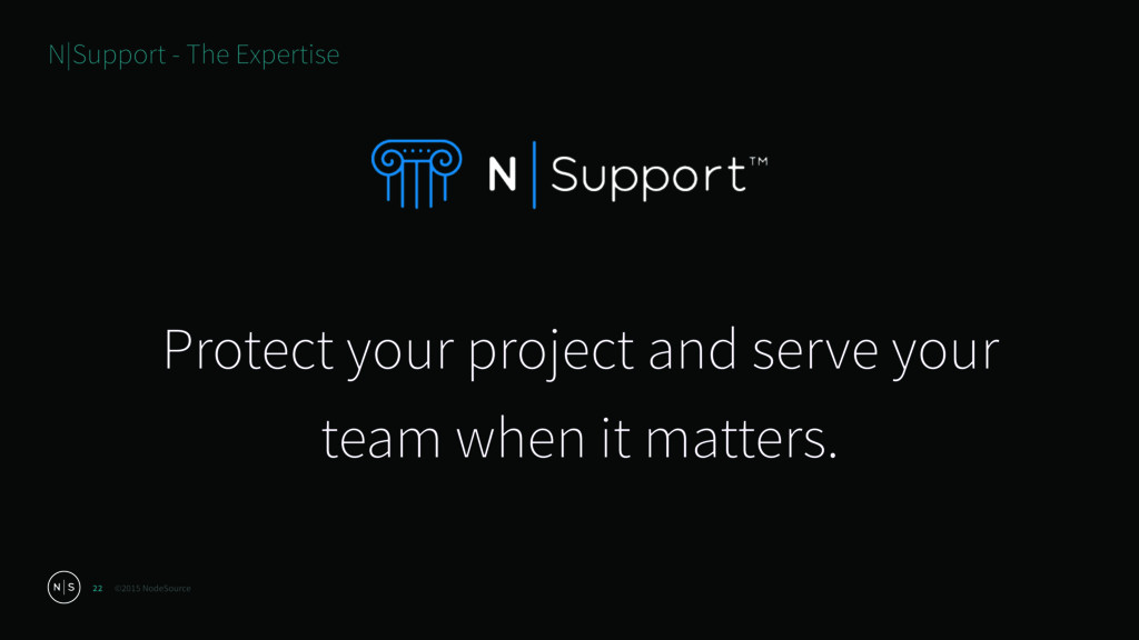 ©2015 NodeSource 22 Protect your project and se...