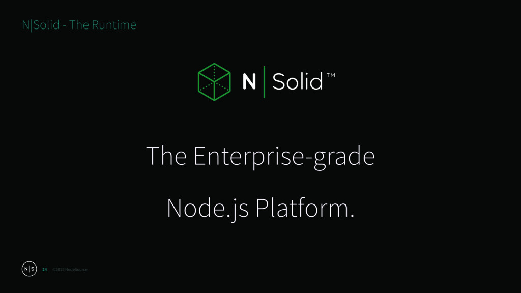 ©2015 NodeSource 24 N|Solid - The Runtime The E...
