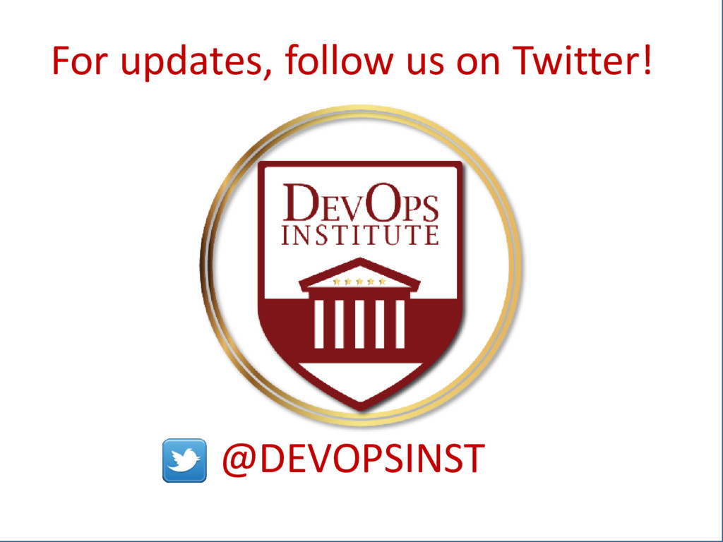 Ac For updates, follow us on Twitter! @DEVOPSIN...