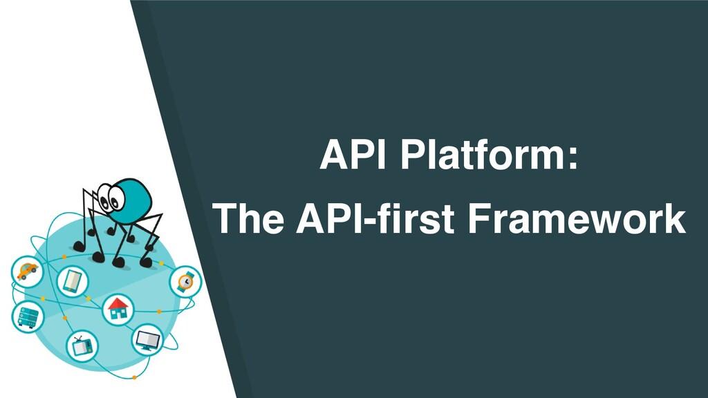 API Platform :   The API-first Framework