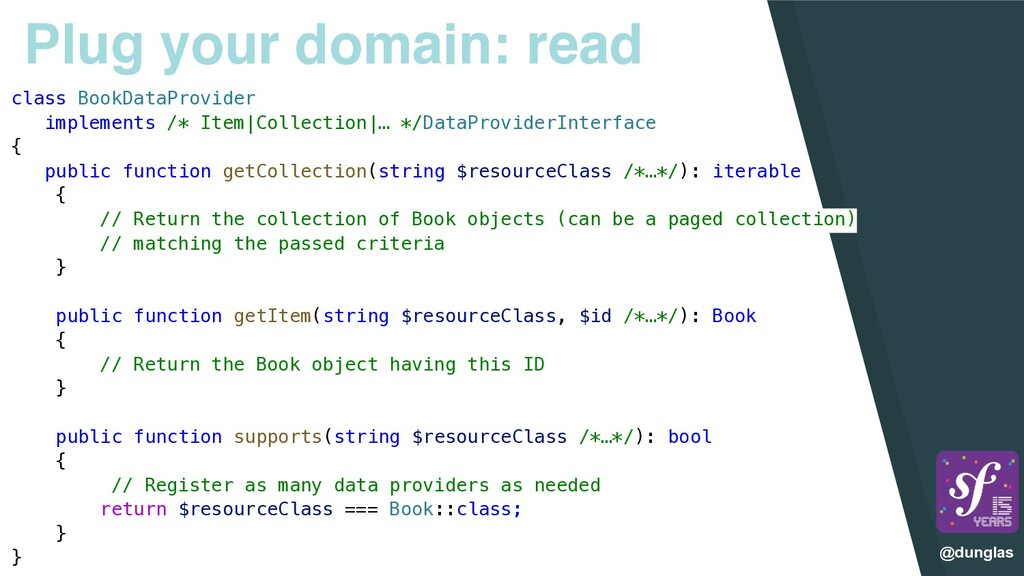 @dunglas Plug your domain: read class BookDataP...