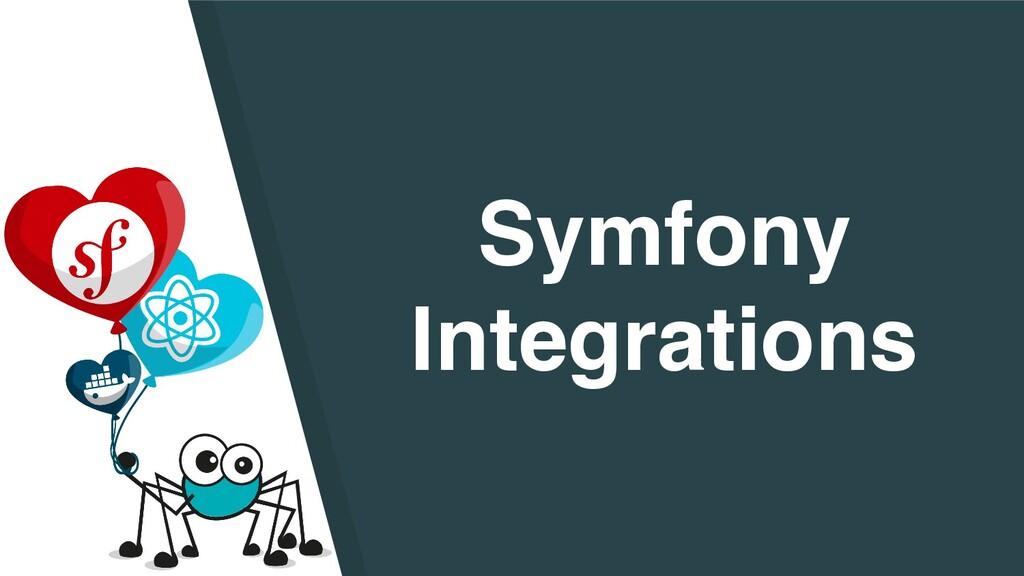 Symfon y   Integrations