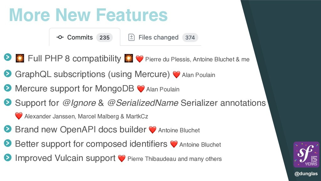 @dunglas More New Features  Full PHP 8 compatib...