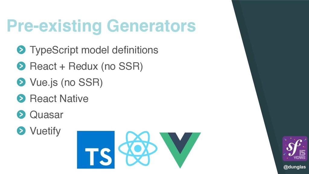 @dunglas Pre-existing Generators TypeScript mod...