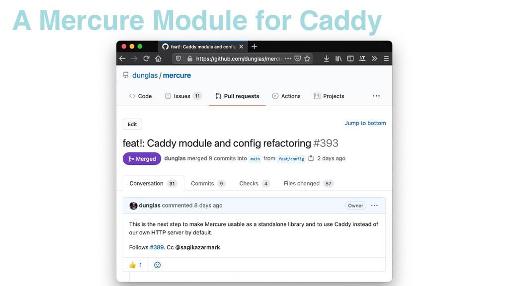 A Mercure Module for Caddy