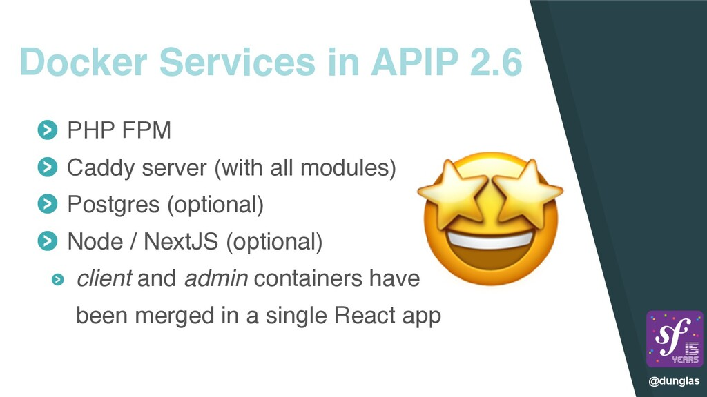 @dunglas Docker Services in APIP 2.6 PHP FP M  ...