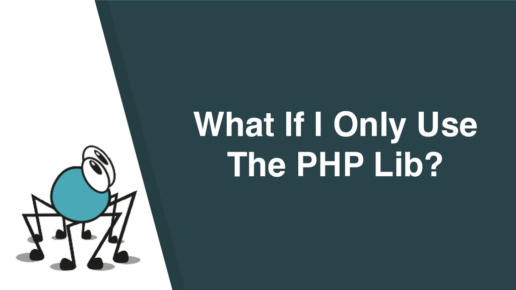 What If I Only Use The PHP Lib?