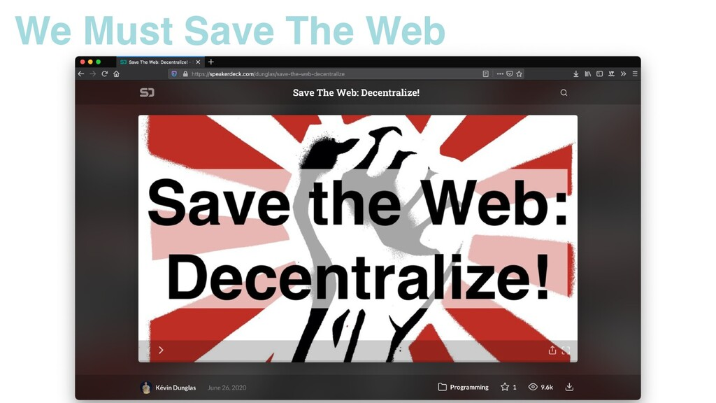 We Must Save The Web