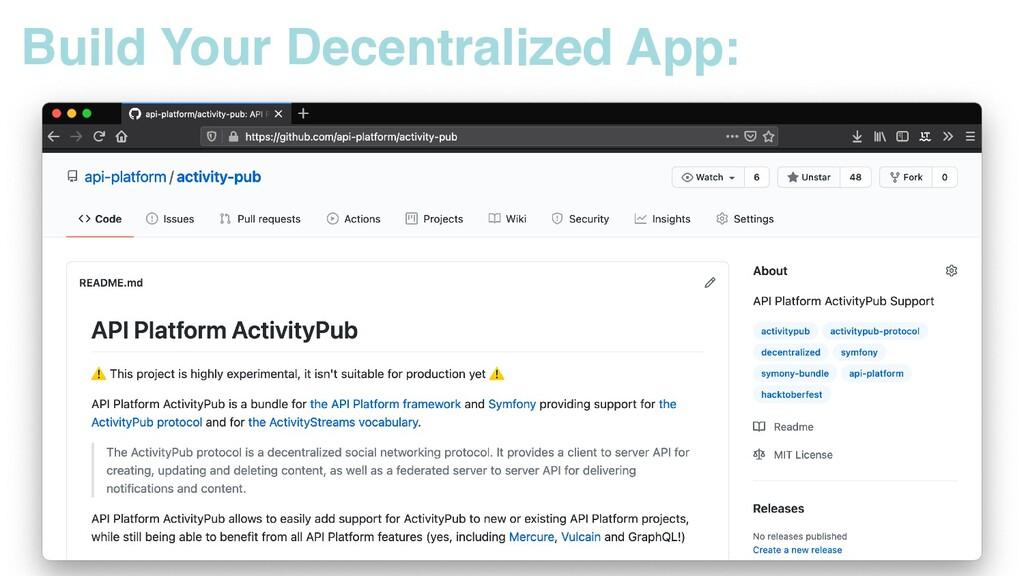 Build Your Decentralized App: