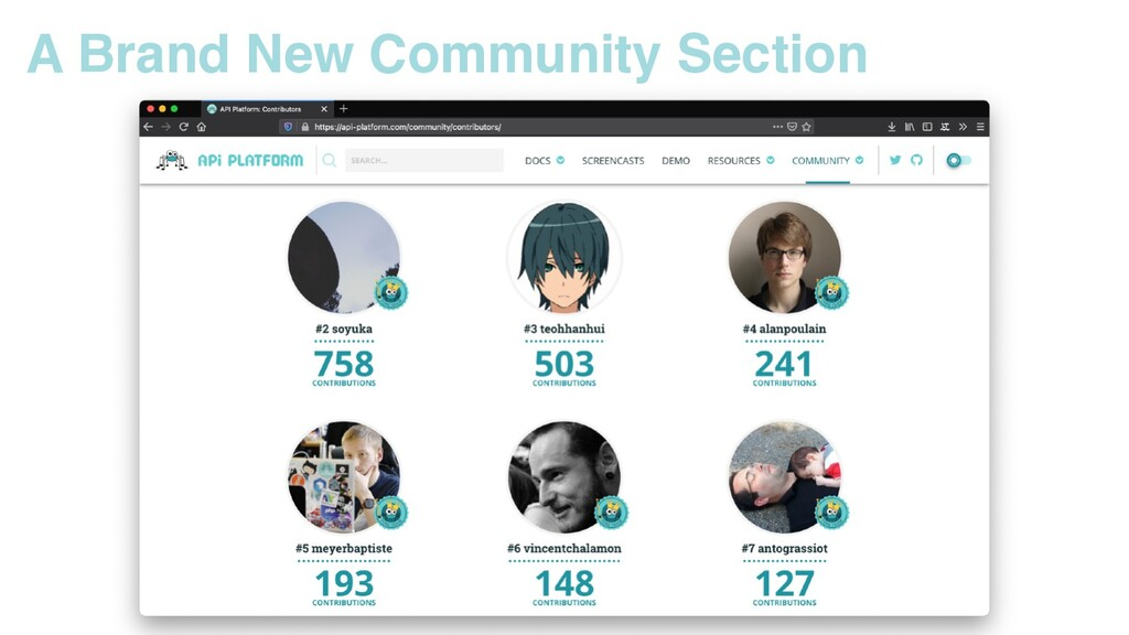 A Brand New Community Section