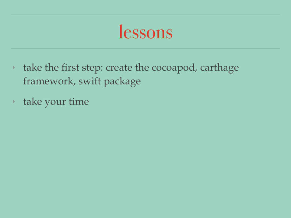 lessons ‣ take the first step: create the cocoap...